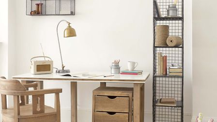 Wafer desk; Rolly drawer unit; Cedric chair; Highwire storage unit; Gaston desk lamp, Loaf. PA Photo