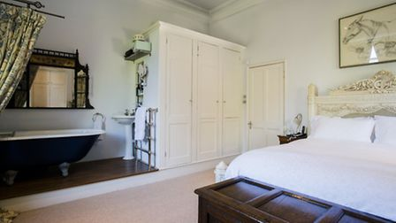 The bedroom with free-standing bath in the �3.2 million house