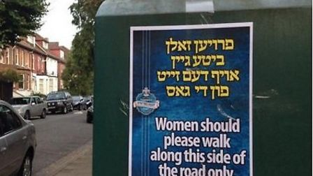 Stamford Hill religious posters sparked outrage