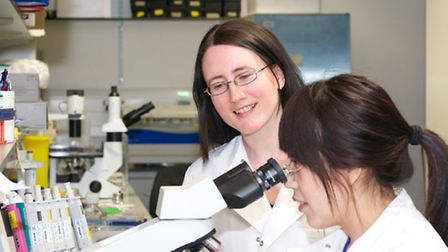 Prof Lucy Walker (back) works with her team at the Royal Frees Institute of Immunity and Transplant