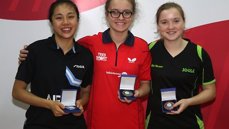 Tin-Tin Ho (left) with her silver medal. Pic: Michael Loveder
