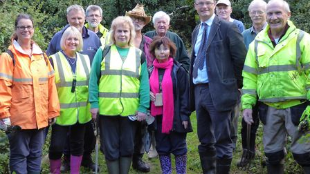 Waveney MP Peter Aldous visits the Bonds Meadow wildlife area in Oulton Broad. Picture: Courtesy of
