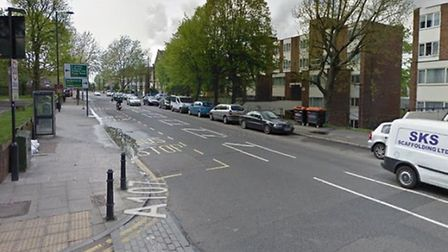 The crash happened at the corner of Bethune Road and Amhurst Park in Stamford Hill (Picture: Google)