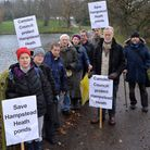 Campaigners are out in force tonight to oppose the Hampstead Heath dams project
