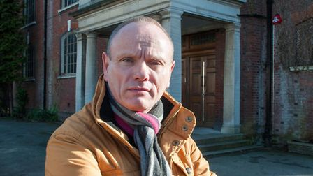 Mike Freer MP outside Golders Green Synagogue. Picture: Nigel Sutton
