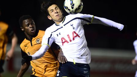 Tottenham's Ismail Azzaoui (right) has scored in every round of the FA Youth Cup this season