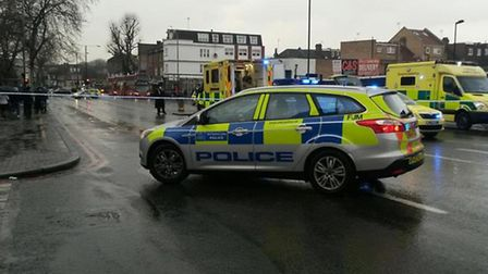 A woman was hit by a lorry at the junction of Rostrevor Avenue and High Road