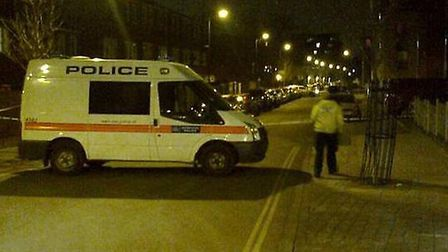 The scene of the shooting in Southwold Road, photo @ShulemStern