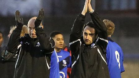 Wingate & Finchley boss Daniel Nielsen (right) has been named manager of the month for January in th