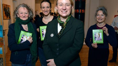 Green Party leader Natalie Bennett launches her parliamentary campaign in Holborn and St Pancras at