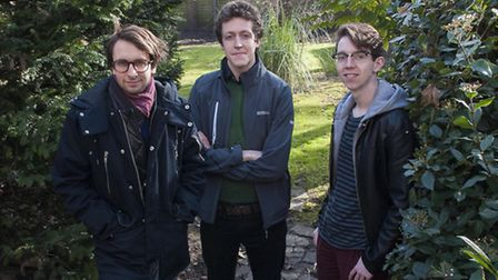 Tim Arbabzadah, Simon Worthington and Matt Colvin. First time renters pictured in the garden of thei
