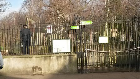 Police have sealed off Abney Park Cemetery