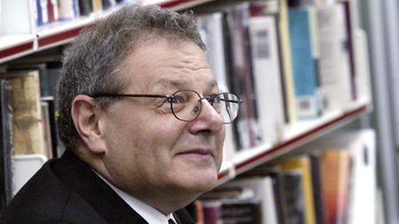 Historian Sir Martin Gilbert at Heath Library in Hampstead. Picture: Nigel Sutton