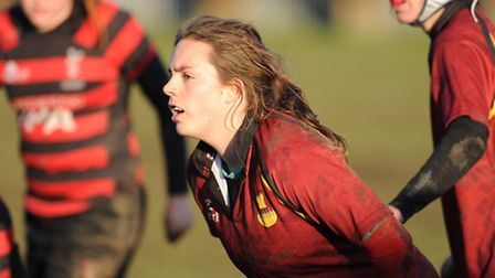 Mel Wright scored a second-half try for Hampstead Ladies. Pic: Paolo Minoli