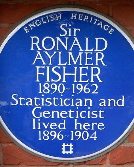 Blue Plaque to Sir Ronald Fisher at Inverforth House