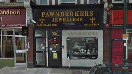 The foiled smash and grab happened at a pawnbrokers in Golders Green. Picture: Google Streetview