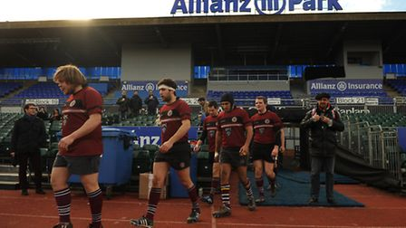The UCS players emerge from the tunnel. Pic: Paolo Minoli