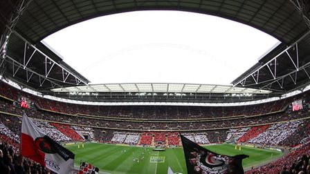 Saracens will face Harlequins at Wembley Stadium next month. Pic: Matthew Impey/Wiredphotos. co. uk