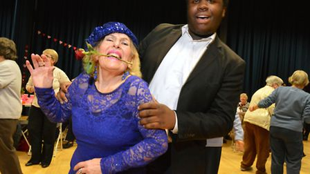 Anita Lancet, 83, dances with Haverstock pupil Jordan Peterson, 18. Picture: Polly Hancock