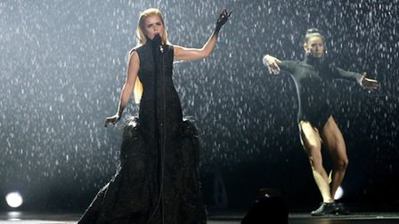 Paloma Faith performs on stage during the 2015 Brit Awards at the O2 Arena, London.