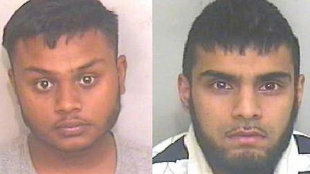 (L) Muhammad Ahmed, 22, of Gospel Oak, was jailed for three years and seven months, and (R) Mohammed