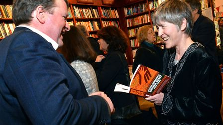 Author Helen Harris signs copies of her book. Picture: Polly Hancock.