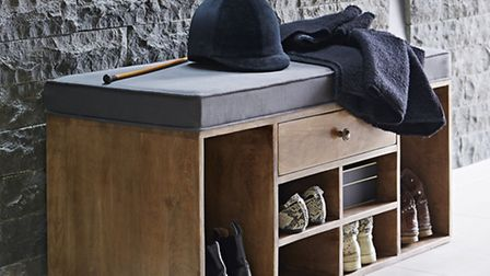 Shoe storage bench with drawer, Alison at Home. PA Photo/Handout