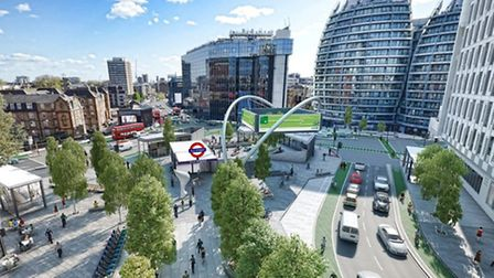 An artist's impression of the Old Street proposals.