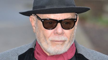 Former pop star Gary Glitter, real name Paul Gadd, outside Southwark Crown Court during his latest s