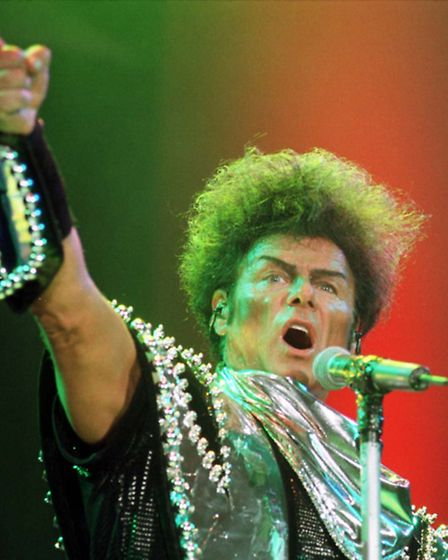 Disgraced former pop icon Gary Glitter on stage at the Cardiff International Arena. Picture: Barry B