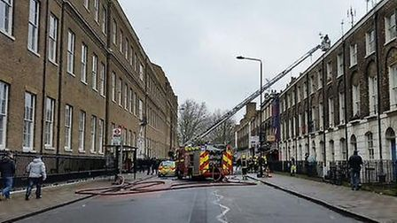 A fire broke out in a cafe next to Euston station. Picture: London Fire Brigade