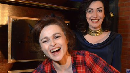 Actress and former pupil Helena Bonham Carter with headteacher Helen Pike. Picture: Polly Hancock