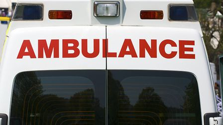 The cyclist was taken to hospital with serious injuries