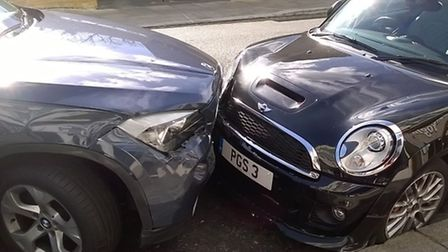 A BMW collided with a Mini in Belsize Crescent