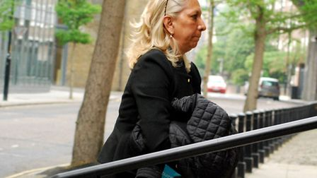 Juliette D'Souza arriving at Blackfriars Crown Court last April