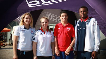 Left to right: Molly Harding, Annabel Chaffey, Kyle Powell and Viddal Riley at the national junior i