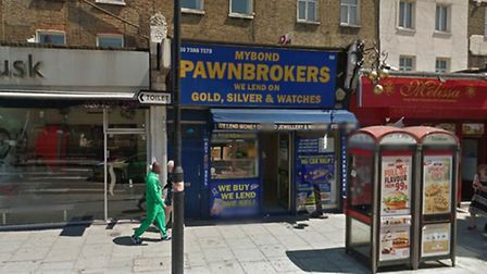 The pawn brokers in Camden High Street. Picture: Google Street View