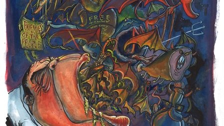 Bank's Demons. Picture: Martin Rowson