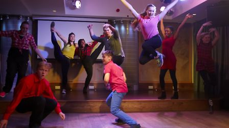 Performers at the launch of Anna Fiorentini's Stage and the City initiative. Photo Peter Gettins