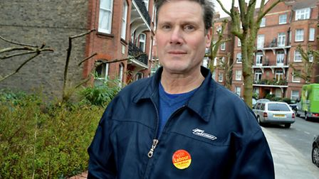 Sir Keir Starmer on the campaign trail in Lissenden Gardens, Gospel Oak. Picture: Polly Hancock.