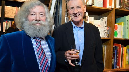 Joseph Connolly (left) with Michael Palin. Picture: Polly Hancock.