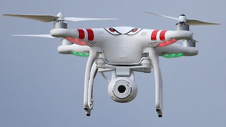 Drones like this quadcopter, which is fitted with a camera, are becoming a more common sight in Alex