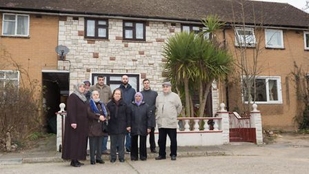 Residents outside properties in Burtley Close, Manor Park. The homeowners all live nearby and are be