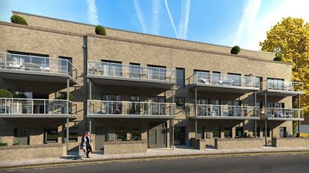 CGI of the Town Apartments, Kentish Town, NW5