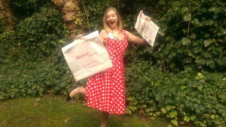Your chance to win that Blustons red polka dot dress (as provided by owner Michael Albert and modell