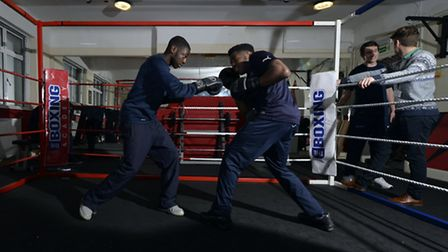 PE class, at The Boxing Academy, Hackney.17.12.14