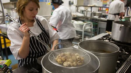Pop-up benefit gala dinner at Gayhurst Community School in Hackney with head chef Nocole Pisani and