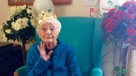 Doris Bedford, aged 106, celebrates her birthday in style. Pictures: Gareth Harding