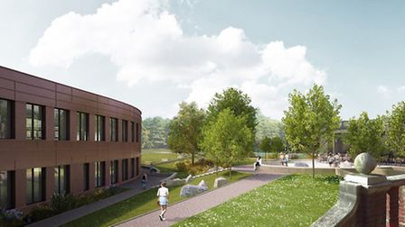 An artist's impression of how the new Parliament Hill School building will look. Picture: ASTUDIO Lt