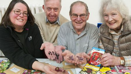 Patricia Major, Ken Murrell, Terry Rand and Gill Reed from the horticultural society and Suburb Allo